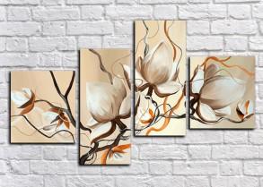 Цветы модульные картины