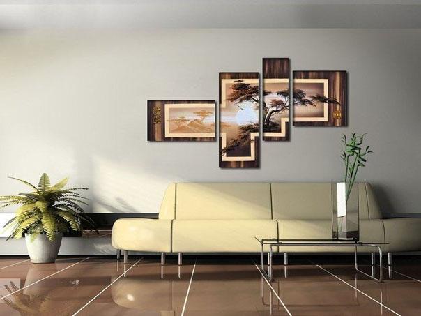 Картина в коричневых тонах